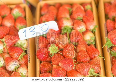 Strawberry Fresh From The Farm, The Feeling Of The North Of Thailand, The Price Per Kilo One Hundred