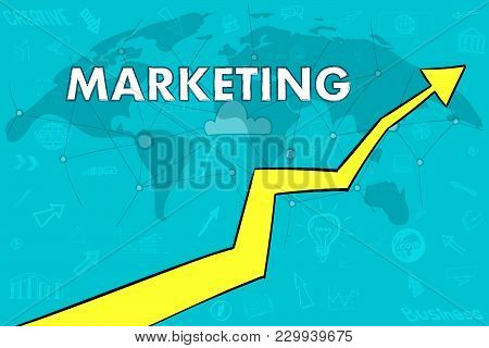 Marketing banner world map arrow vector photo bigstock world map arrow up cloud concept gumiabroncs Image collections