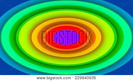 Multicolored Background From Rainbow Ovals
