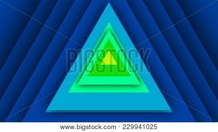Multicolored Backdrop From Equilateral Triangles
