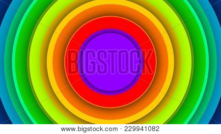 Multicolored Backdrop From Many Circles
