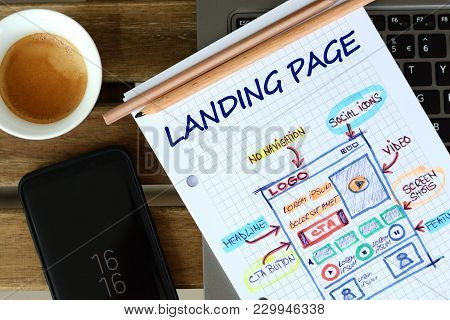 Website Landing Page  Development - Sketch On Math Book