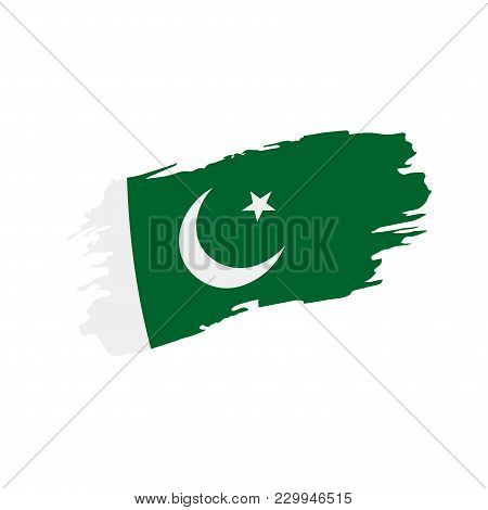 Pakistan Flag, Vector Illustration On A White Background