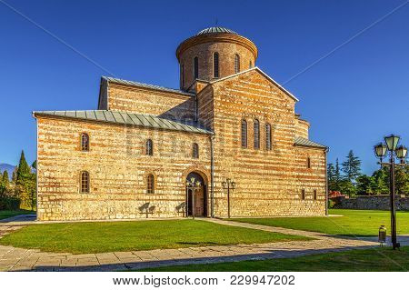 Piscunda, Abkhazia - October 21, 2014: Temple Of The Apostle Andrew.