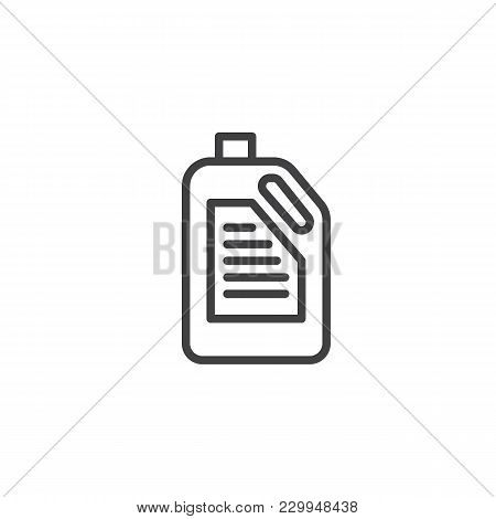 Detergent Canister Outline Icon. Linear Style Sign For Mobile Concept And Web Design. Laundry Contai