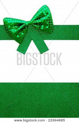 Green Bowtie Gift Background