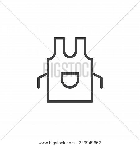 Apron Outline Icon. Linear Style Sign For Mobile Concept And Web Design. Kitchen Pinafore Simple Lin