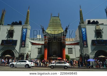 Chinessetheatre Imax On Walk Of Fame In Hollywood Boluvedard. July 7, 2017. Hollywood Los Angeles Ca