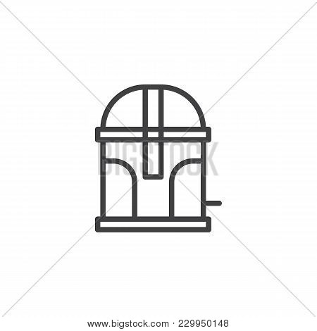 Trash Container Outline Icon. Linear Style Sign For Mobile Concept And Web Design. Garbage Bin Simpl