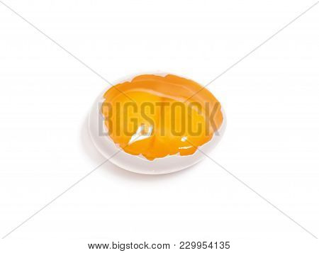 White Hen Egg With Two Yolks