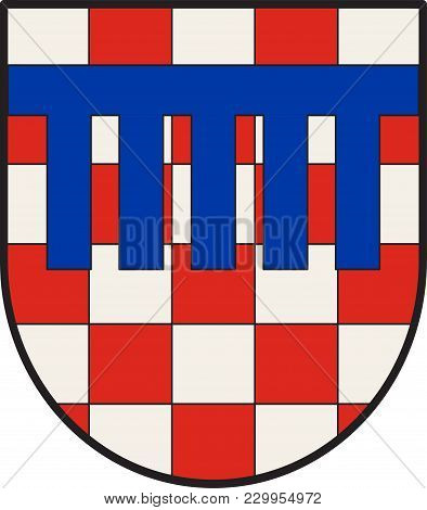Coat Of Arms Of Bad Honnef Is A Spa Town In Germany Near Bonn In The Rhein-sieg District, North Rhin