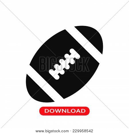 Rugby Ball Icon Vector In Modern Flat Style For Web, Graphic And Mobile Design. Rugby Ball Icon Vect