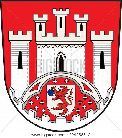 Coat Of Arms Of Hennef Is A Town In The Rhein-sieg District Of North Rhine-westphalia, Germany. Vect