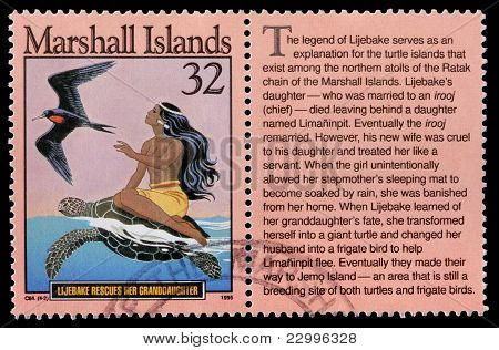 A 32-cent Stamp Printed In The Republic Of The Marshall Islands
