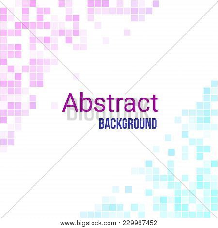 Colorful Abstract Geometric Business Background. Digital Futuristic Minimalism. Vector Illustration.