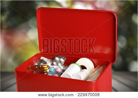 Medical First Aid First Aid Kit Medical Supplies Healthcare And Medicine Still Life Medical Equipmen