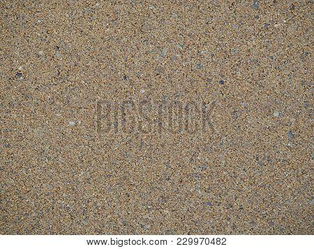 Yellow Textured Beach Desert Empty Sand Background.