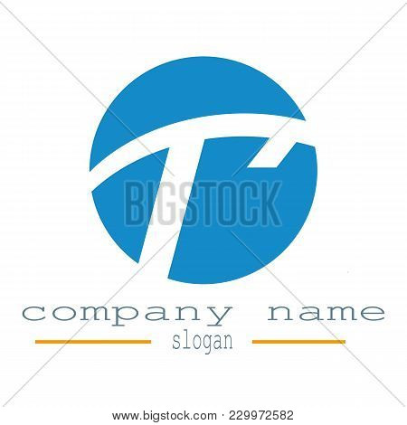Desing Round Letter T Logo Graphic Resource