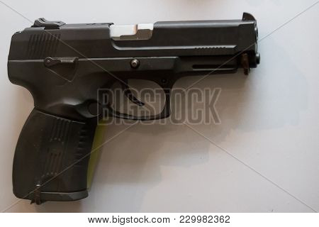 Russian Military Pistol - Soviet Weapon, Close Up