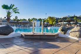 Mas Palomas Gran Canaria Dec 08 2017 Cay Beach Princess Hotel  View Over Small Pool From The Side At