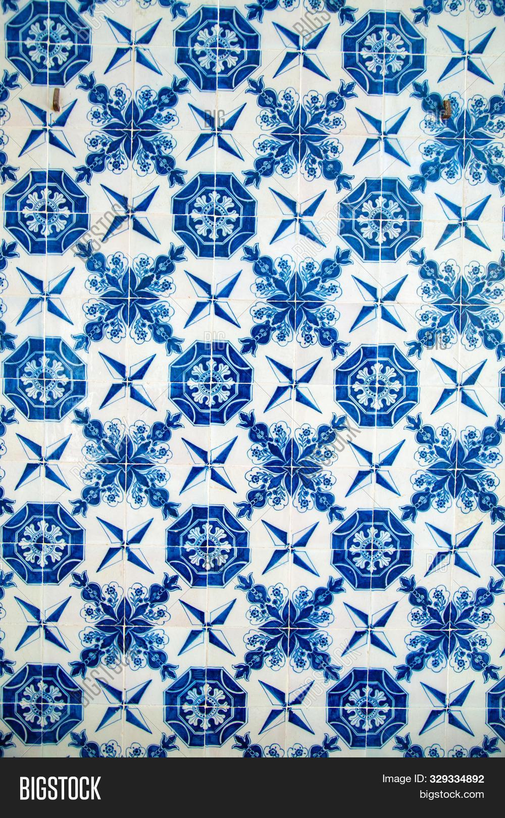 Handmade Blue Turkish Flower ceramic tile
