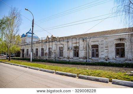 Slavyansk-on-kuban, Russia - April 25, 2019: Ancient Building Of The 19th Century In Antique Style.