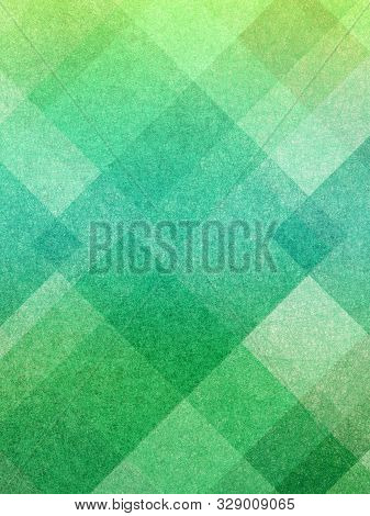 Abstract Blue Green Block Background With Square And Triangle Shape Pattern Grid, Bright Colorful Bl