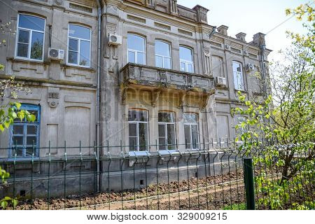 Slavyansk-on-kuban, Russia - April 25, 2019: The Building Of The Agricultural College, An Old Pre-re
