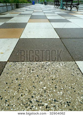 tiled floor in park