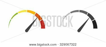 Speedometer Speed Car Auto Dashboard Vector Isolated Icons. Fast Time Concept. Speed Motion Design.
