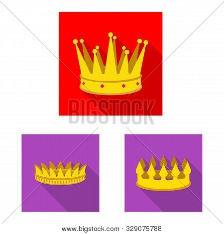 Vector Illustration Of Medieval And Nobility Icon. Set Of Medieval And Monarchy Stock Vector Illustr