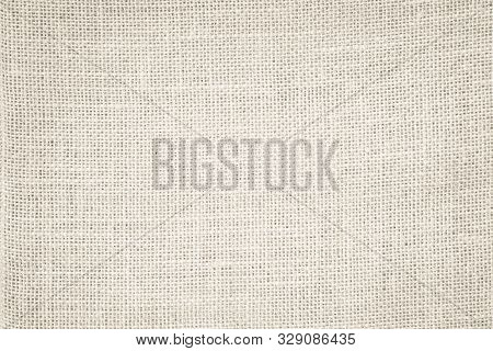 Cream Abstract Hessian Or Sackcloth Fabric Or Hemp Sack Texture Background. Wallpaper Of Artistic Wa