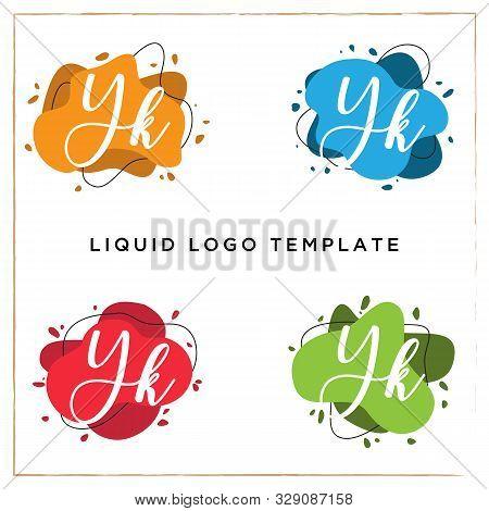 Yk Logo Designs, Y Liquids Logo Template, Colorful Splash Vector