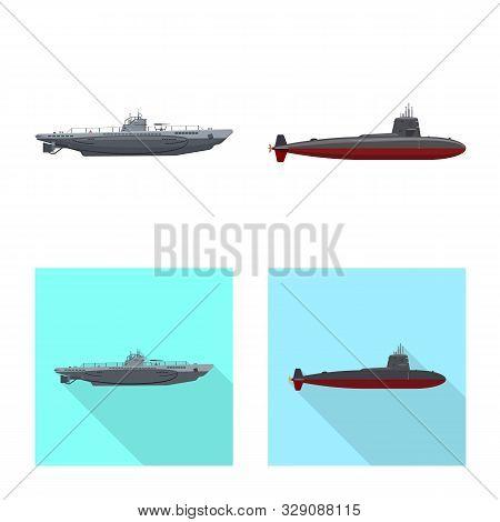 Vector Design Of War And Ship Logo. Set Of War And Fleet Stock Vector Illustration.