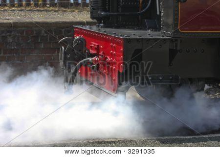 Steam Train Venting Aberystwyth Wales