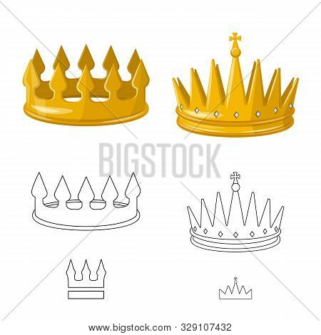 Isolated Object Of Medieval And Nobility Icon. Collection Of Medieval And Monarchy Stock Symbol For