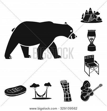 Vector Design Of Barbeque And Leisure Icon. Collection Of Barbeque And Nature Vector Icon For Stock.