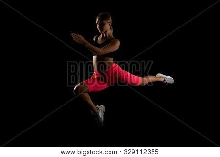 Adrenaline Rush. Rush Away Your Stress. Sporty Woman Speed Up. Move Your Life. Sport Run In Motion.