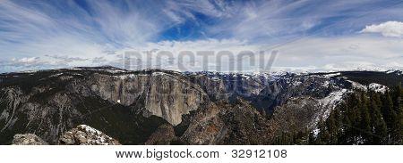 Yosemite Rim Panorama