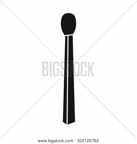 Isolated Object Of Matchstick And Household Logo. Graphic Of Matchstick And Small Stock Vector Illus