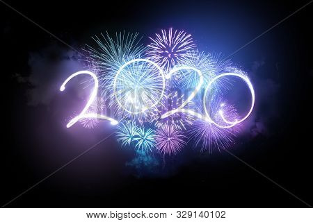 2020 Happy New Year Fireworks Display Background Fireworks.