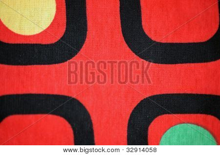 Textile Background Red Black Yellow Green