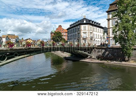 Historic Old Town And La Petite France Neighborhood In Strasbourg