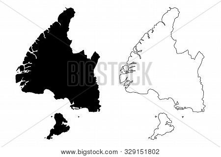 Southland Region (regions Of New Zealand, South Island) Map Vector Illustration, Scribble Sketch Ste
