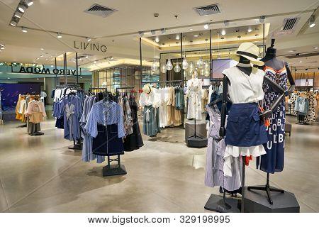 SHENZHEN, CHINA - CIRCA APRIL, 2019: interior shot of Vero Moda store at a shopping mall in Shenzhen.