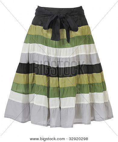 striped skirt isolated on white