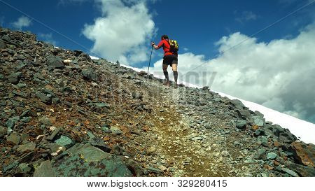 Ultra Trail Running, Sport Activities, Mountain Trails Marathon. The Concept For Exercising And Heal