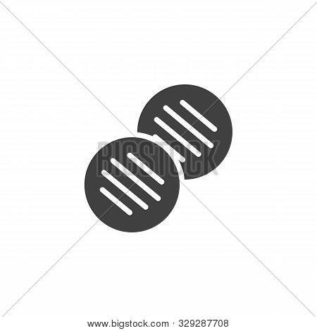 Barbecue Cutlets Vector Icon. Bbq Nuggets Filled Flat Sign For Mobile Concept And Web Design. Grille