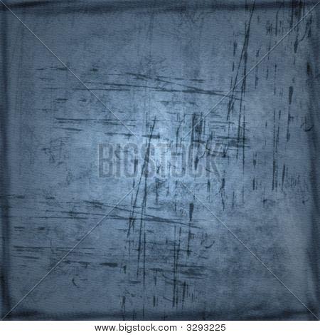 Scratched Blue Grunge Background