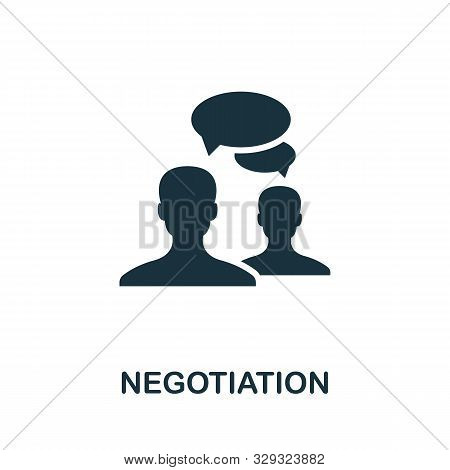 Negotiation Vector Icon Symbol. Creative Sign From Business Administration Icons Collection. Filled